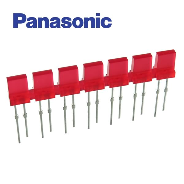 Panasonic Rectangular Red LED 7-Element Display