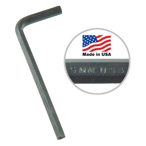 High Quality and Strong U.S.A. Made 5mm Hex L-Wrench