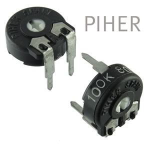 SALE! (Pkg 10) PIHER 100K Trimmer Potentiometer