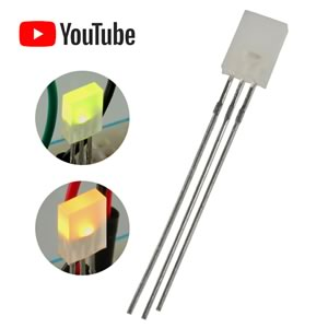 (Pkg 10) 2 Color Green or Yellow Rectangular LED
