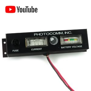 (0-5Amp 18-32V) Photocomm Inc Analog Solar Power Meters