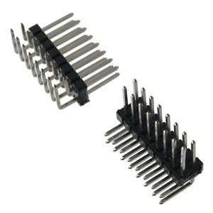 (Pkg 10) Dual Row 8 Pin (16 Pins Total) Right Angle Male Header