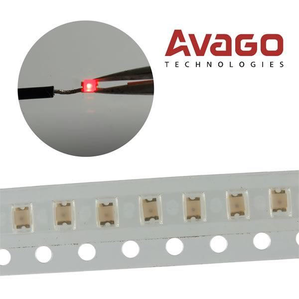 (Pkg 20) Avago HSMS-C170 630nm 10mcd Red SMD LED