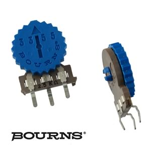 (Pkg 10) Bourns 2.5KΩ Thumbwheel Vertical Mount Trim Pot