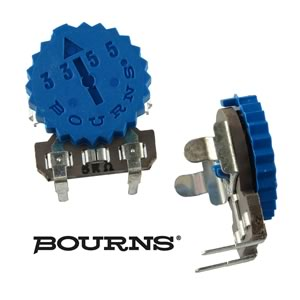 (Pkg 10) Bourns 5KΩ Thumbwheel Horizontal Mount Trim Pot