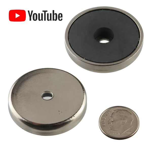 Giant Powerful Round Base 15lb. Pull Magnet