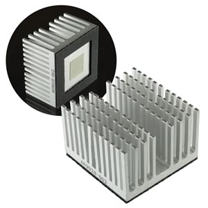 Solid Aluminum BGA Heatsink European Thermodynamics