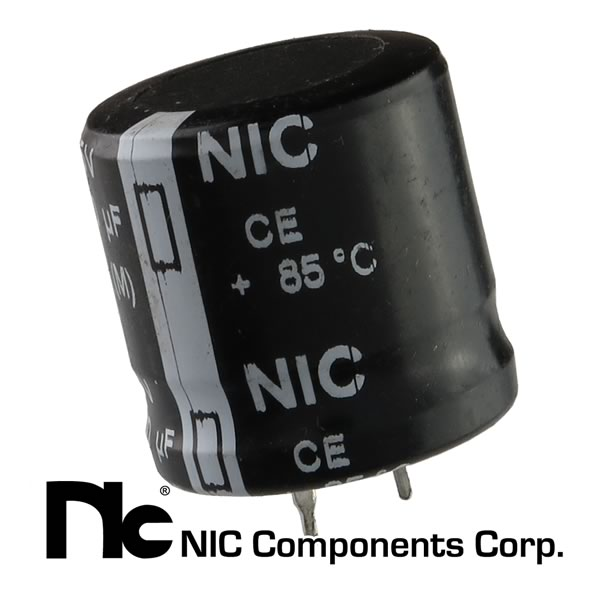 NIC 6800uF 25VDC 'Snap In' Electrolytic Capacitor