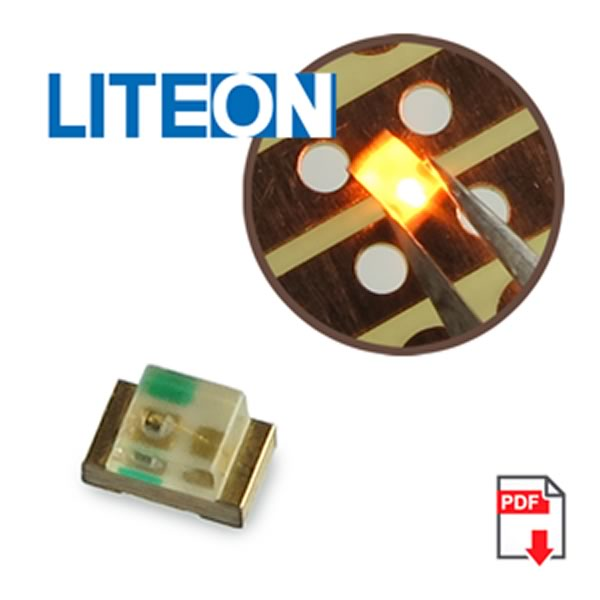 (Pkg 25) Lite-On LTST-C170KSKT Yellow SMD LED