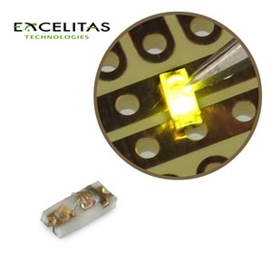 (Pkg 25) Excelitas CR 10 YG Yellow Green Ceramic Chip SMD LED