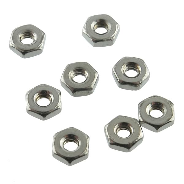 (Pkg 50) Stainless Steel 4-40 Hex Nut
