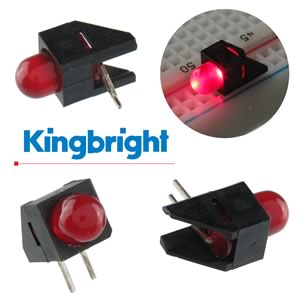 (Pkg 20) Kingbright L-1503CB/1ID Right Angle Red LED