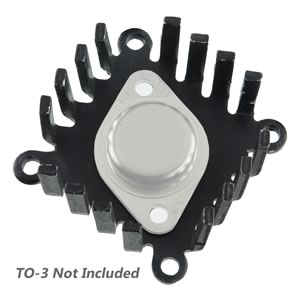 Large Black Anodized Aluminum TO-3 Heatsink