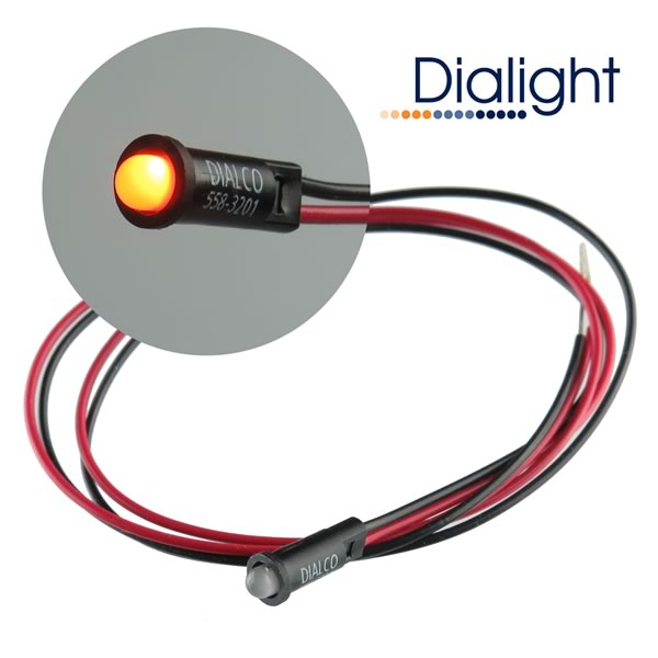 Dialight Bipolar Panel Mount 3mm Yellow/Green LED Indicator