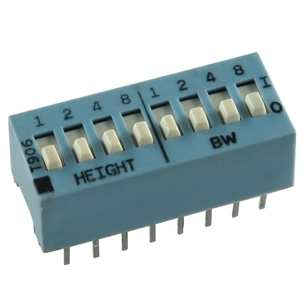(Pkg 5) Unique 8 Position DIP Switch