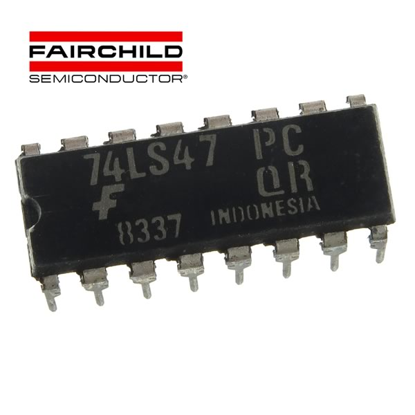 Fairchild 74LS47 BCD to Seven Segment Decoder/Driver
