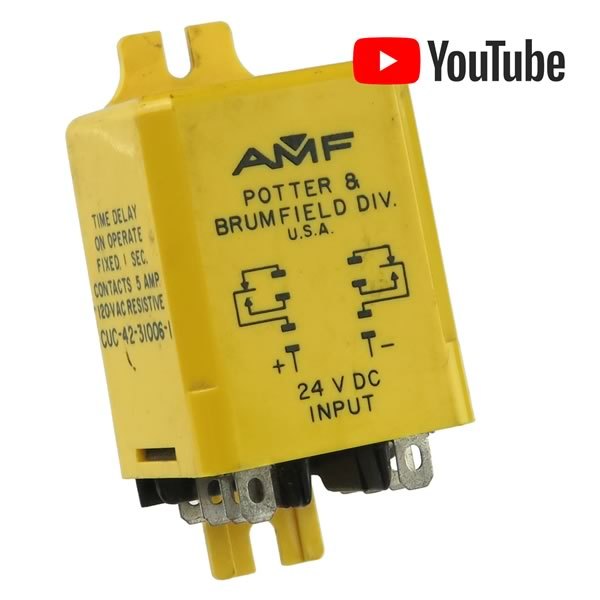 AMF 1 Second Time Delay on Operate 24VDC 5A DPDT Relay