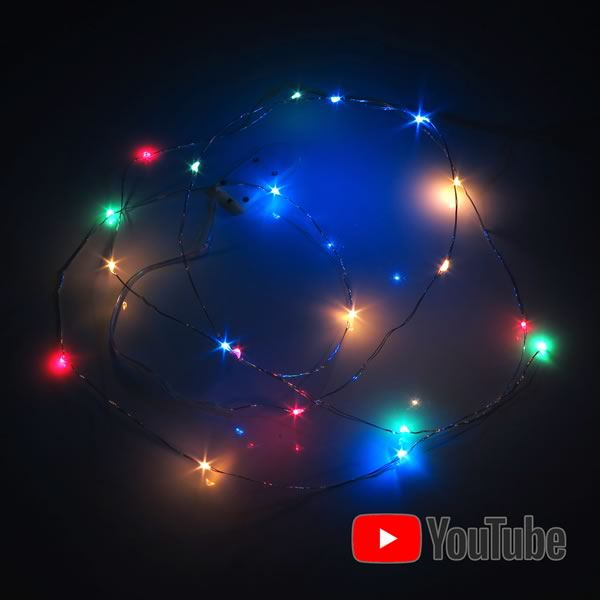 Full Color 20 LED String Holiday Lights