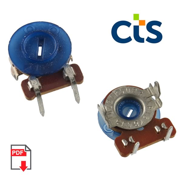 (Pkg 10) CTS 5K Horizontal Mount Linear Taper Trimmer Resistor
