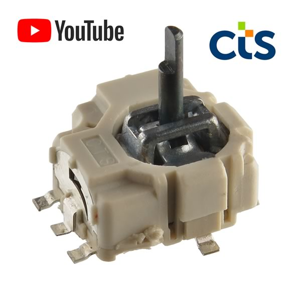 CTS 254 Series Micro-stick™ 10KΩ 2 Axis SMD Joystick