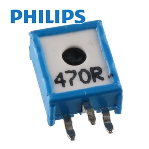 (Pkg 10) Philips EMP10 470Ω 10mm Vertical Mount Cermet Trimmer Resistor