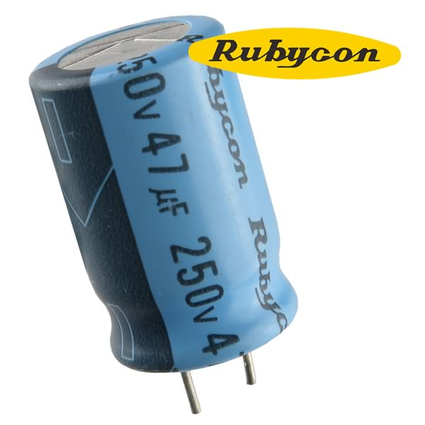 SALE! (Pkg 4) Rubycon 47uF 250VDC Electrolytic Capacitor