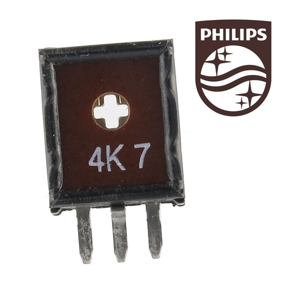 (Pkg 10) Philips ECP10 4.7K 10mm Vertical Mount Trimmer Resistor