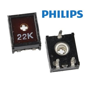 (Pkg 10) Philips ECP10 22K 10mm Horizontal Mount Trimmer Resistor