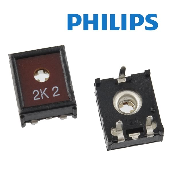 (Pkg 10) Philips ECP10 2.2K 10mm Horizontal Mount Trimmer Resistor