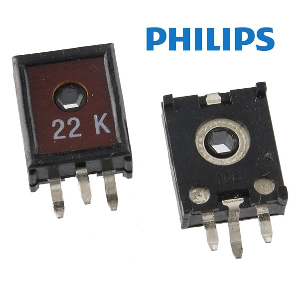 (Pkg 10) Philips ECP10 22K 10mm Vertical Mount Trimmer Resistor