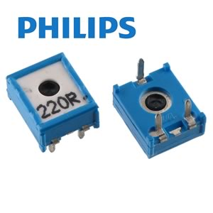 (Pkg 10) Philips EMP10 220Ω 10mm Horizontal Mount Cermet Trimmer Resistor