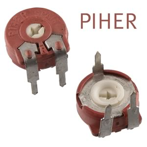 (Pkg 10) Piher PTC-10 Series 10K Horizontal Mount 10mm Cermet Potentiometer
