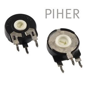 (Pkg 10) Piher PT-15 Series 200K Vertical Mount 15mm Trimmer Resistor