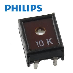 (Pkg 10) Philips ECP10 10K 10mm Horizontal Mount Trimmer Resistor