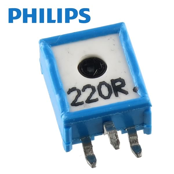 (Pkg 10) Philips EMP10 220Ω 10mm Vertical Mount Cermet Trimmer Resistor