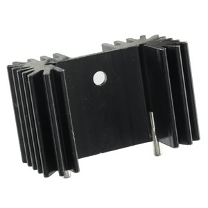TO-220/218/247 Black Anodized Heatsink with Pins 1.66