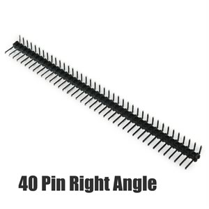 40 Pin Single Row Right Angle Snap Apart Male Header 6.0mm/2.54mm