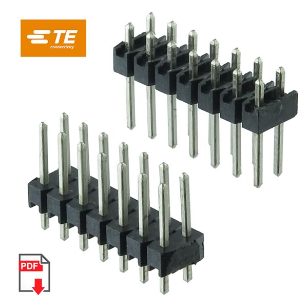 G23618 Pkg 10 Tyco Dual 7 Pin 14 Pins Total Male