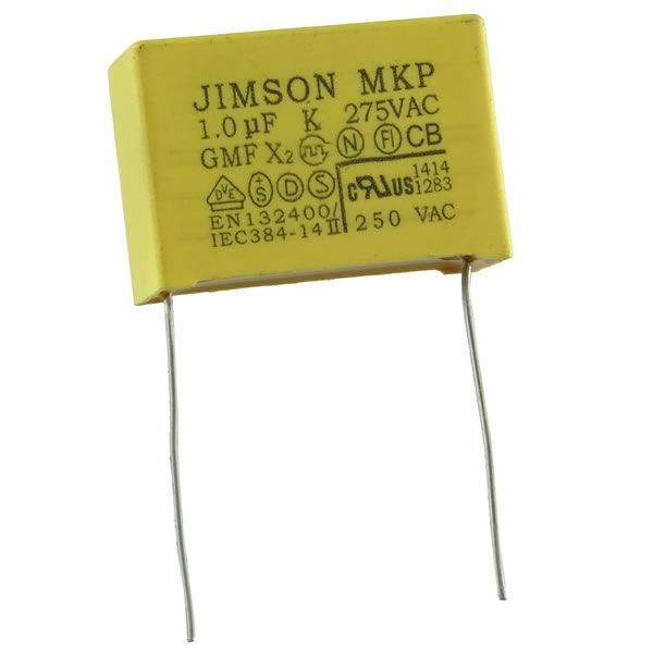 MKP (X2 Class) 1.0uF 275VAC Radio Interference Suppression Cap