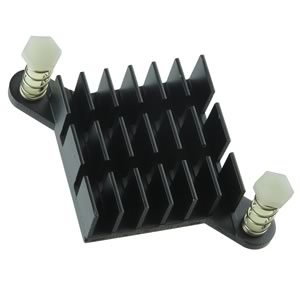 Aluminum BGA Heatsink w/ Diagonal Push Pins 25mm Sq x 10mm