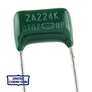 (Factory Bag of 100) 0.22uF 50V Polyester Film Capacitor UCC
