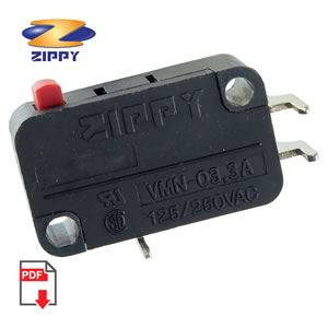 Zippy Snap Action SPST Microswitch VMN-03