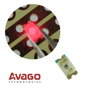 (Pkg 25) Avago HSMH-L640 Red 639nm 32mcd SMD LED