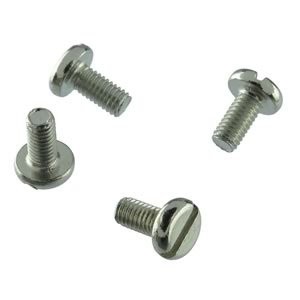 (Pkg 100) M3x6 6mm Pan Head Slotted Machine Screw