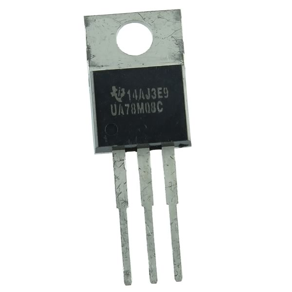(Pkg 5) UA78M08C Positive 8V 500mA Linear Voltage Regulator TI