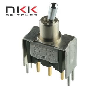 NKK PCB Mount SPDT Toggle Switch with Bracket M-2012