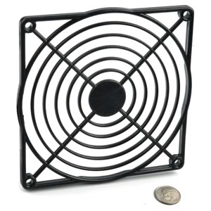 Black Plastic Fan Guard for 120mm Fans