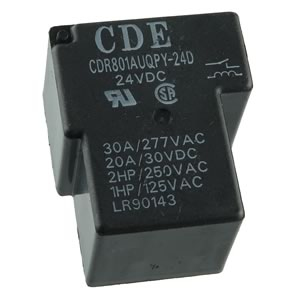 CDE 24VDC High Switching Capacity 30A SPST Relay