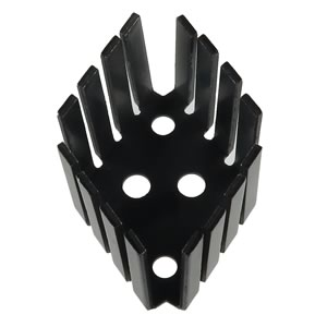 TO-3 Black Anodized Aluminum Heatsink, 1.9