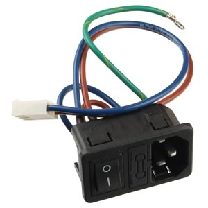 AC Power Entry Module with Switch and Wires